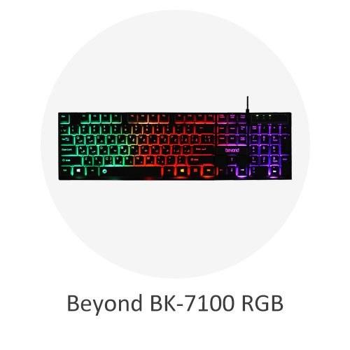 تصویر کیبورد گیمینگ بیاند مدل Beyond BK-7100 RGB