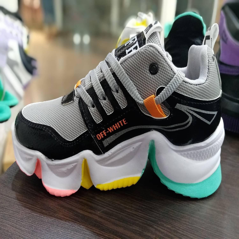 کفش کتانی اسپرت مدل آف وایت کد 0017