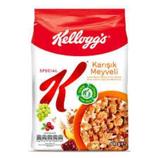 تصویر کورن فلکس اسپشیال کی مخلوط میوه کلاگز - 400 گرم Special K Kellaggs Cornflakes fruit mix - 400 g
