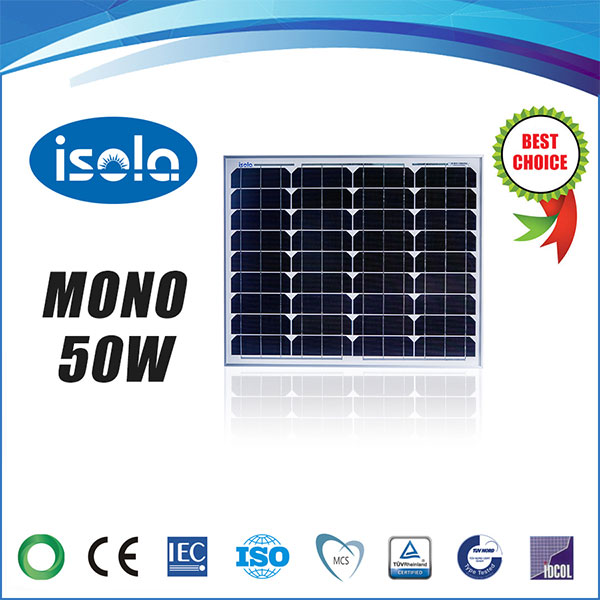 تصویر پنل خورشیدی 50 وات OSDA-ISOLA مونو کریستال