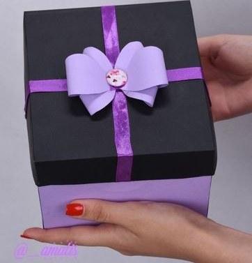 تصویر جعبه کادو سایز کوچک