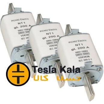 تصویر مجموعه سه تایی فیوز کاردی 100 تا 250 آمپر gG/gL پیچاز الکتریک NT1