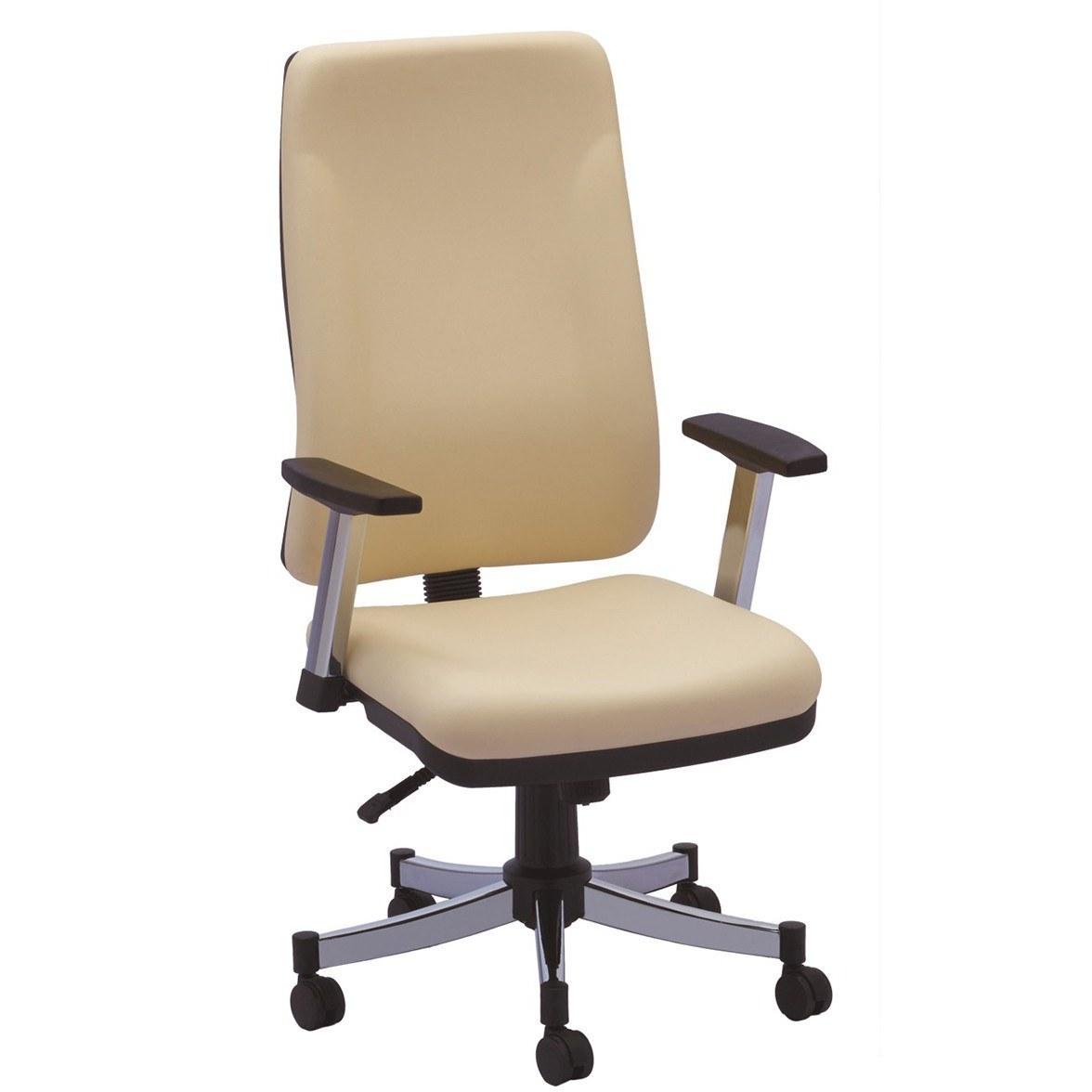 صندلی کارمندی و کارشناسی رایانه صنعت ماندا (P-704) با روکش چرم