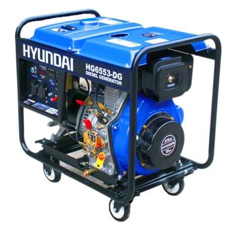 تصویر موتور برق هیوندای مدل HG6553-DG HYUNDAI Generator Model HG6553-DG