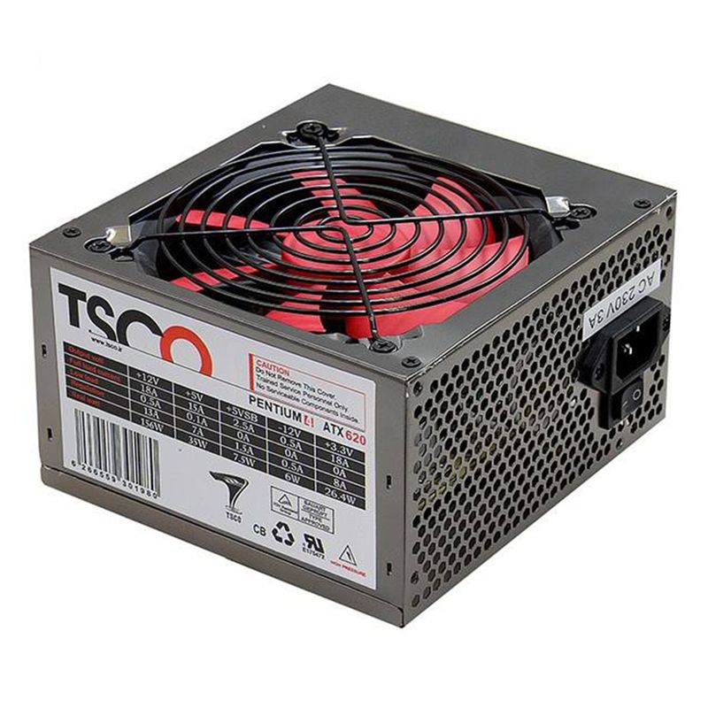 image منبع تغذیه کامپیوتر تسکو مدل TP 620W با توان خروجی 230 وات