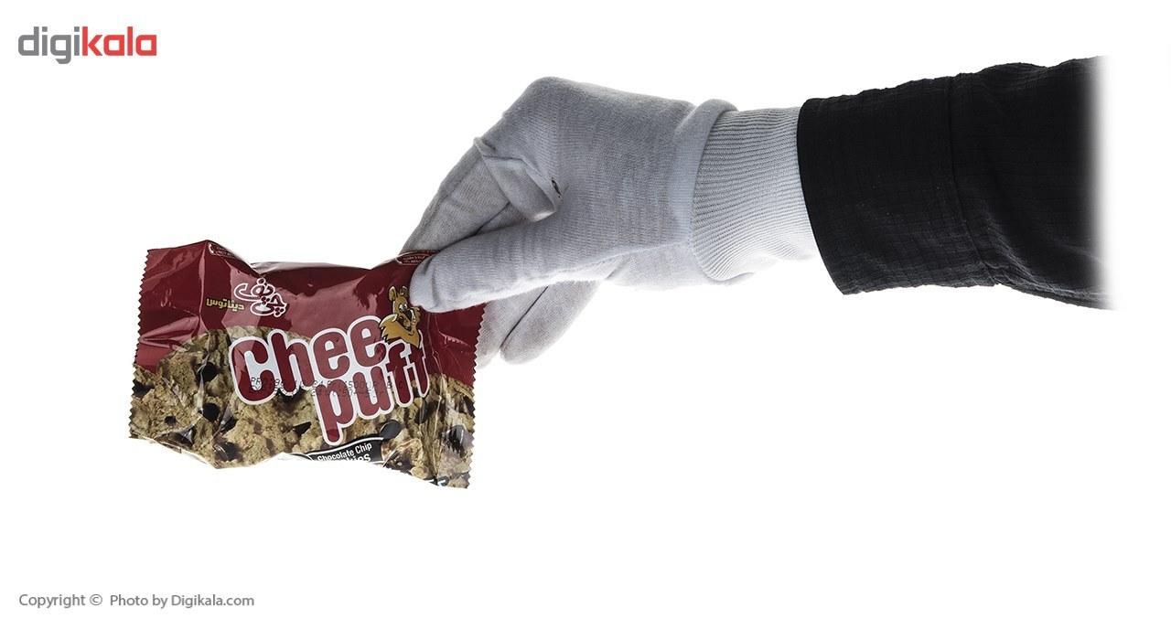 img کوکی شکلاتی چی پف مقدار 50 گرم Chee Puff Chocolate Cookie 50gr