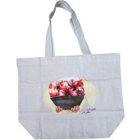 تصویر ساک خرید پارچه ای مانیز طرح سبد انار (Maniz)