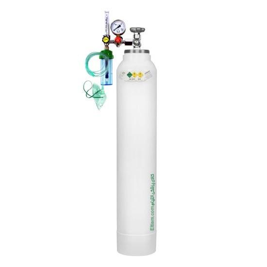 تصویر کپسول اکسیژن 20 لیتری با مانومتر طبی
