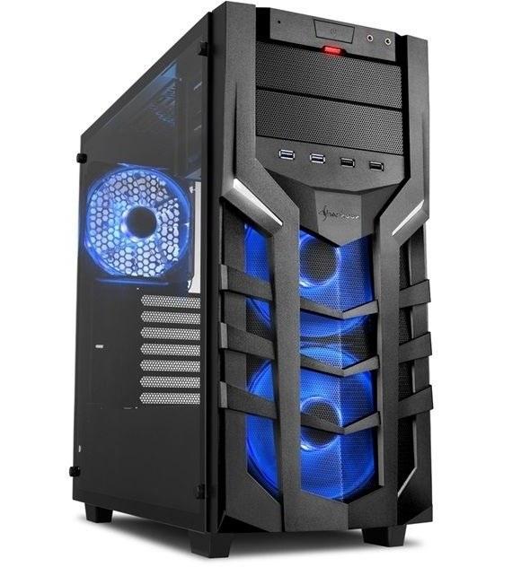 تصویر کیس شارکن مدل دی جی 7000 جی آر جی بی کیس Case شارکن DG7000-G RGB Midi Tower Case