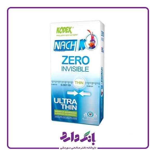 تصویر کاندوم کدکس مدل Zero Invisible بسته 12 عددی Nachi Kodex model Zero InvisibleCondom - Package 12 pieces
