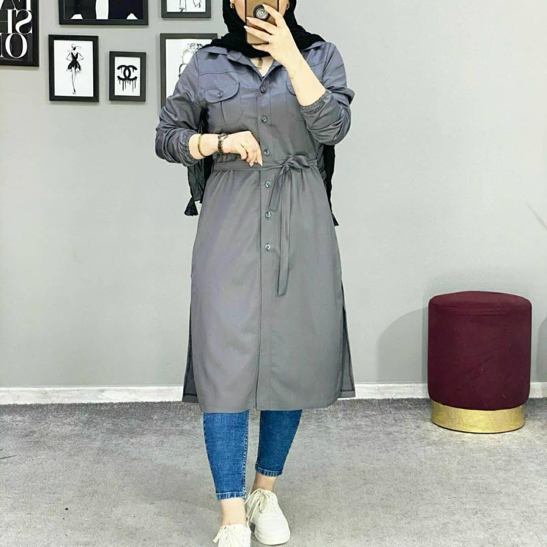 تصویر مانتو اسپرت استین کش Sport sleeveless coat