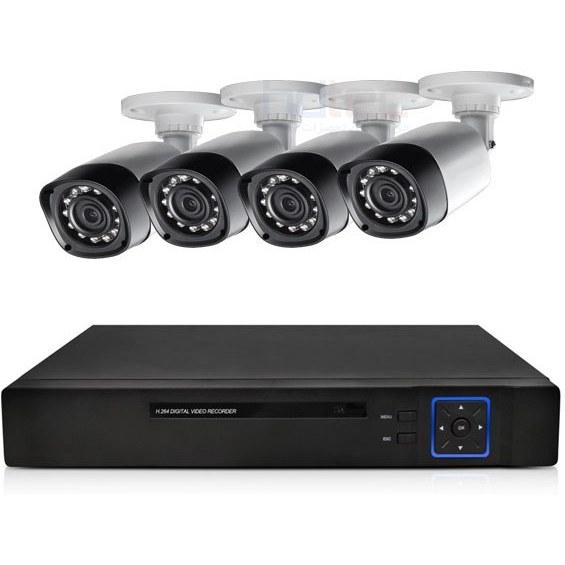 پک ۴ عدد دوربین دیواری HD + DVR | CCTV Camera Package 1MP Bullet