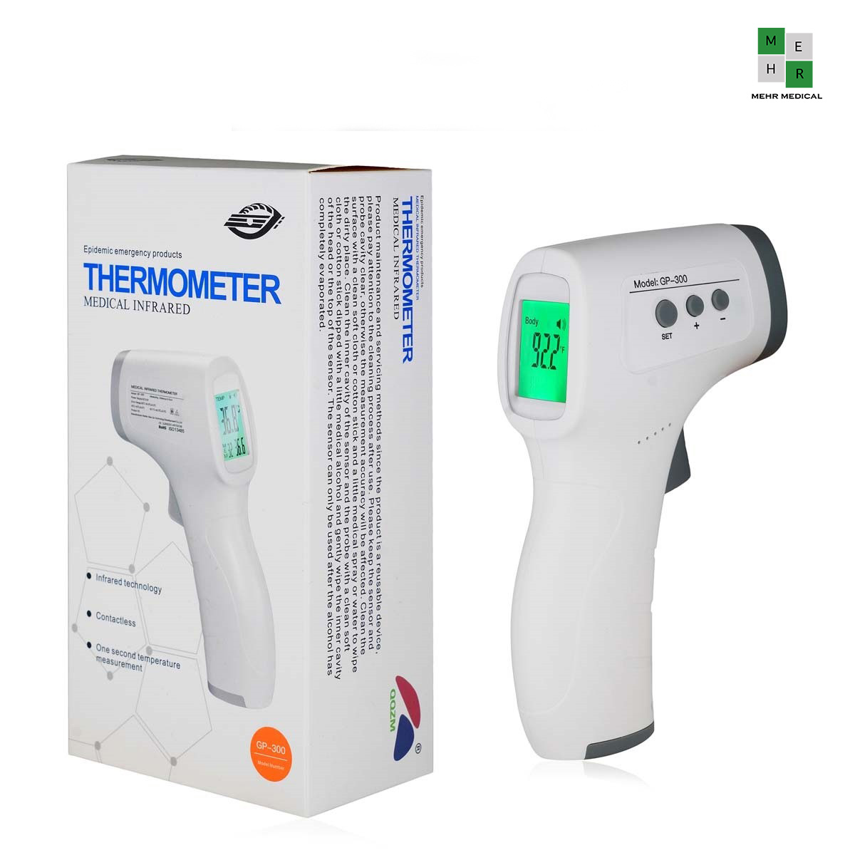 ترمومتر تب سنج لیزری Gp-300