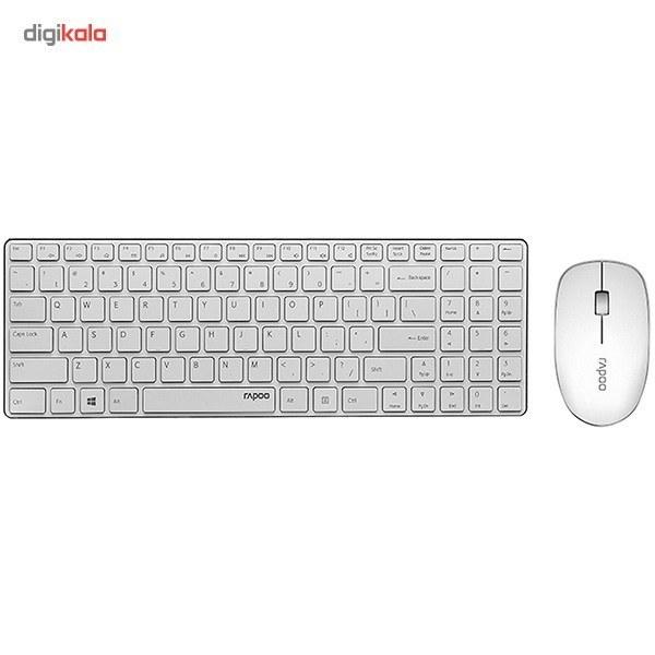 img کیبورد و ماوس بیسیم رپو مدل ای 9300 پی کیبورد و ماوس رپو E9300P Wireless Keyboard and Mouse
