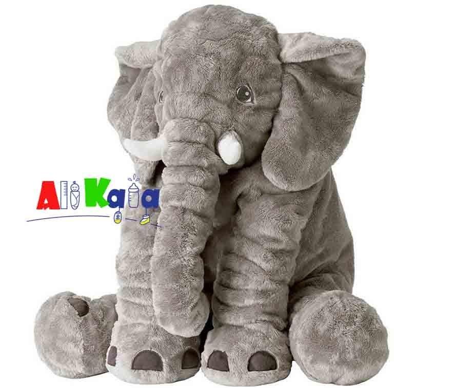 تصویر عروسک فیل بالشتی بازی و خواب نوزاد اورجینال بزرگ