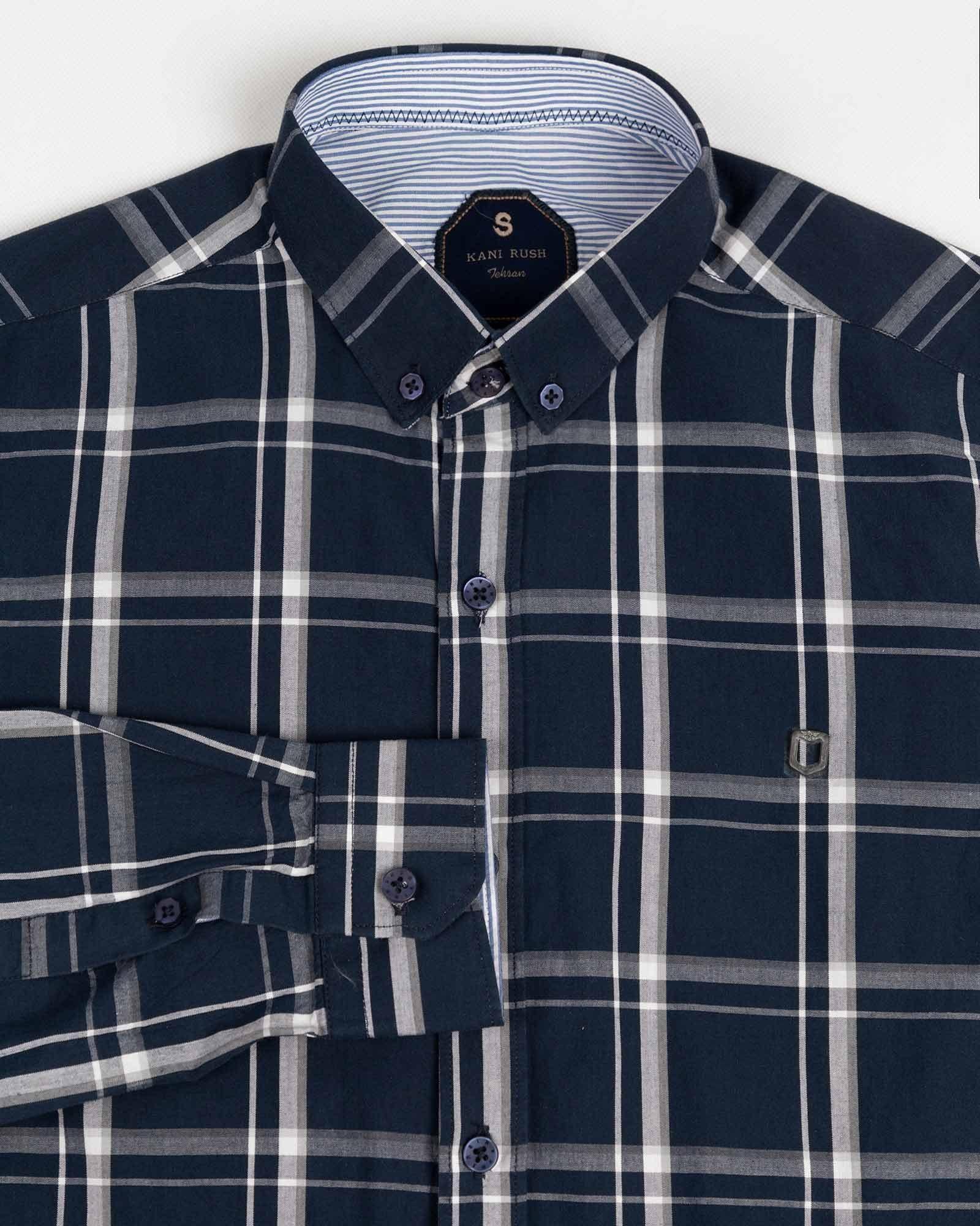 تصویر پیراهن مردانه چهارخانه آستین بلند