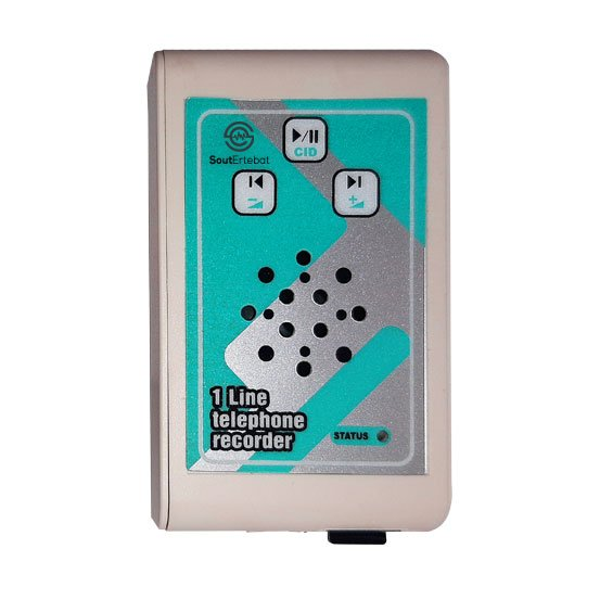 تصویر دستگاه ضبط مکالمات تلفن ثابت صوت پرداز مدل SP-VR18 (300 ساعت) ANSWERING MACHINE &VOICE RECORDER SP-VR18