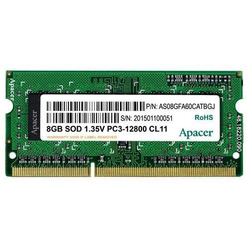 رم لپ تاپ اپیسر مدل DDR3L 1600MHz ظرفیت 8 گیگابای | Apacer CL11 12800 DDR3L 1600MHz Notebook Memory