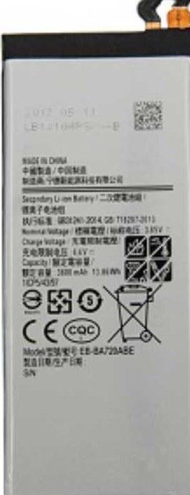 تصویر باتری اورجینال سامسونگ گلکسی A7 2017 مدل EB-BA720ABE ظرفیت 3600 میلی آمپر ساعت Samsung Galaxy A7 2017 - EB-BA720ABE 3600mAh Original Battery