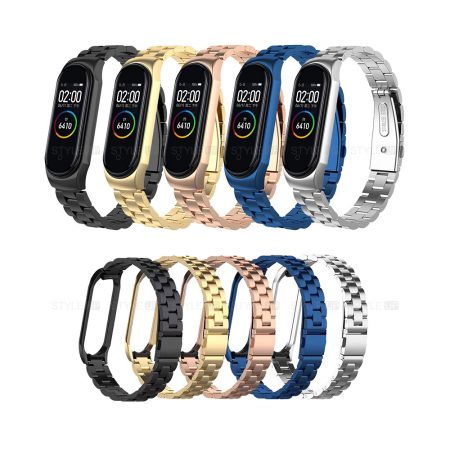 تصویر بند فلزی دستبند سلامتی شیائومی مدل Mi Band 4