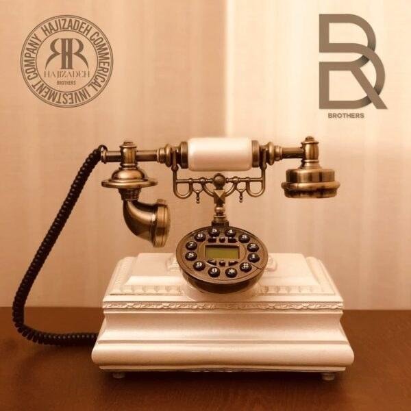 تصویر تکنیکال تلفن  رومیزی  مستطیل سفید  T-2641