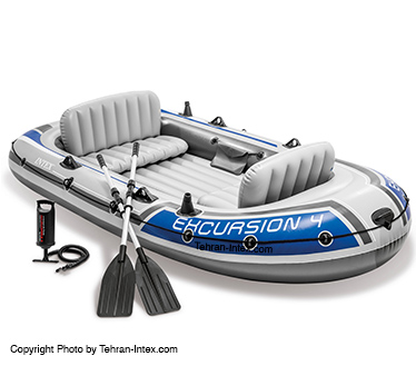 تصویر قایق بادی 4 نفره اکسکروشن اینتکس