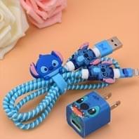 main images پک محافظ کابل پلاستیکی protective Toys محافظ کابل + برچسب شارژر آیفون فانتزی USB Cable Protector