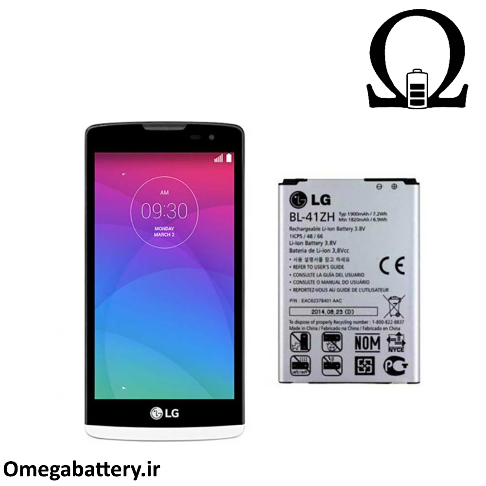 تصویر باتری الجی LG Leon H324 - BL-41ZH LG Leon H324 - BL-41ZH Battery