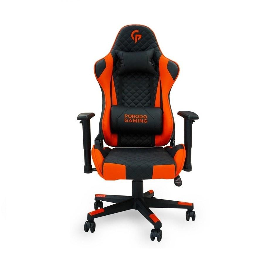 تصویر صندلی راحتی گیمینگ پرودو Porodo PDX512-BKO (PORODO Lifestyle Gaming Chair Black/Orange PDX512-BKO)