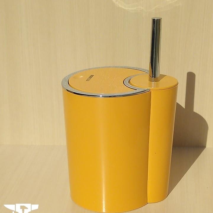 تصویر سطل و برس نسکافه ای دستشویی مدل برزیل | برند بریسو دیزاین