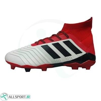 کفش فوتبال آدیداس پردیتور طرح اصلی سفید قرمز Adidas Predator