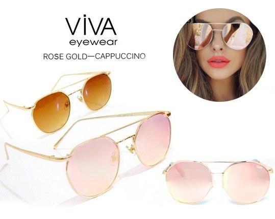 عینک آفتابی زنانه  viva مدل Metal frame