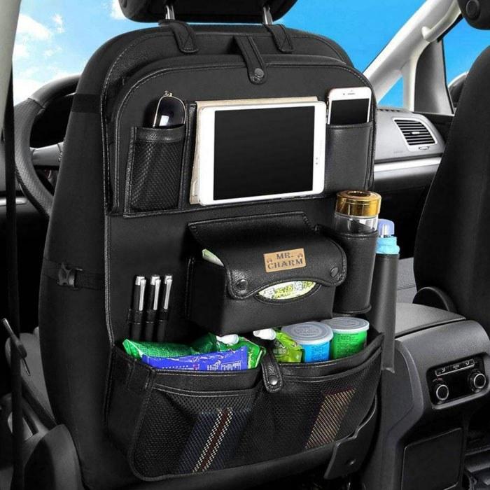 تصویر کیف پشت صندلی خودرو آقای چرم کد KPS-1