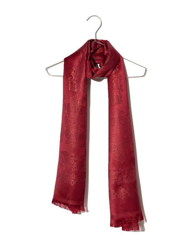 عکس شال زنانه مجلسی زرشکی Market Scarf  شال-زنانه-مجلسی-زرشکی-market-scarf