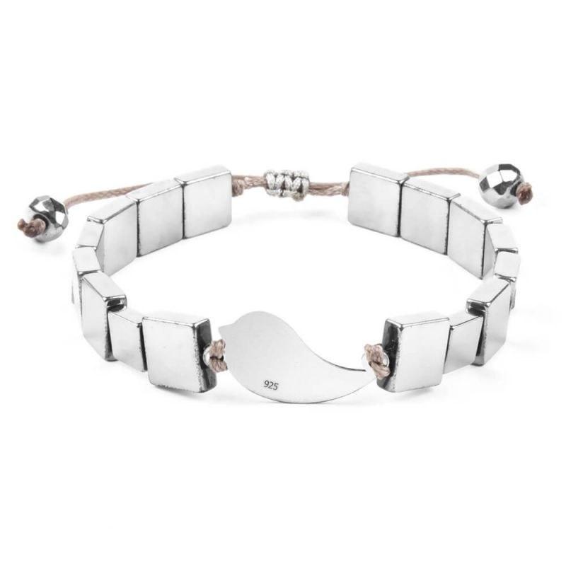 دستبند نقره زنانه حدید سیلور مدل H1046S-Silver ریسه گالری