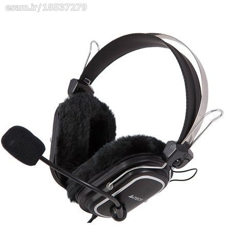 عکس هدست سیم دار A4TECH مدل HS-60 A4TECH Wired Headset Model HS-60 هدست-سیم-دار-a4tech-مدل-hs-60