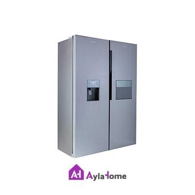 تصویر یخچال فریزر دوقلو هیمالیا هوم بار مدل آلفا سفید چرمی Himalayan Home Bar Twin Freezer Refrigerator Model Alpha White Leather