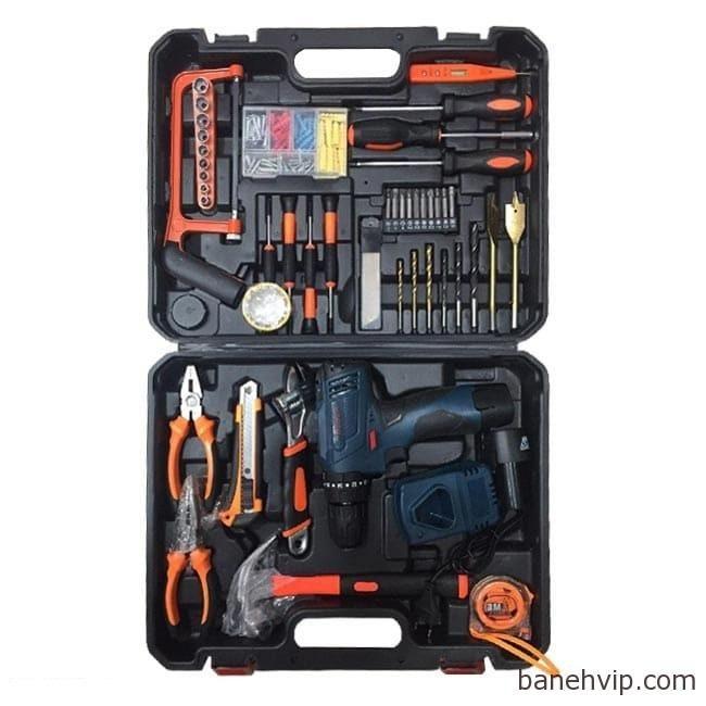 جعبه ابزار با دریل شارژی بوش TSR18-2-LI Bosch Tool Box Corlless Dril