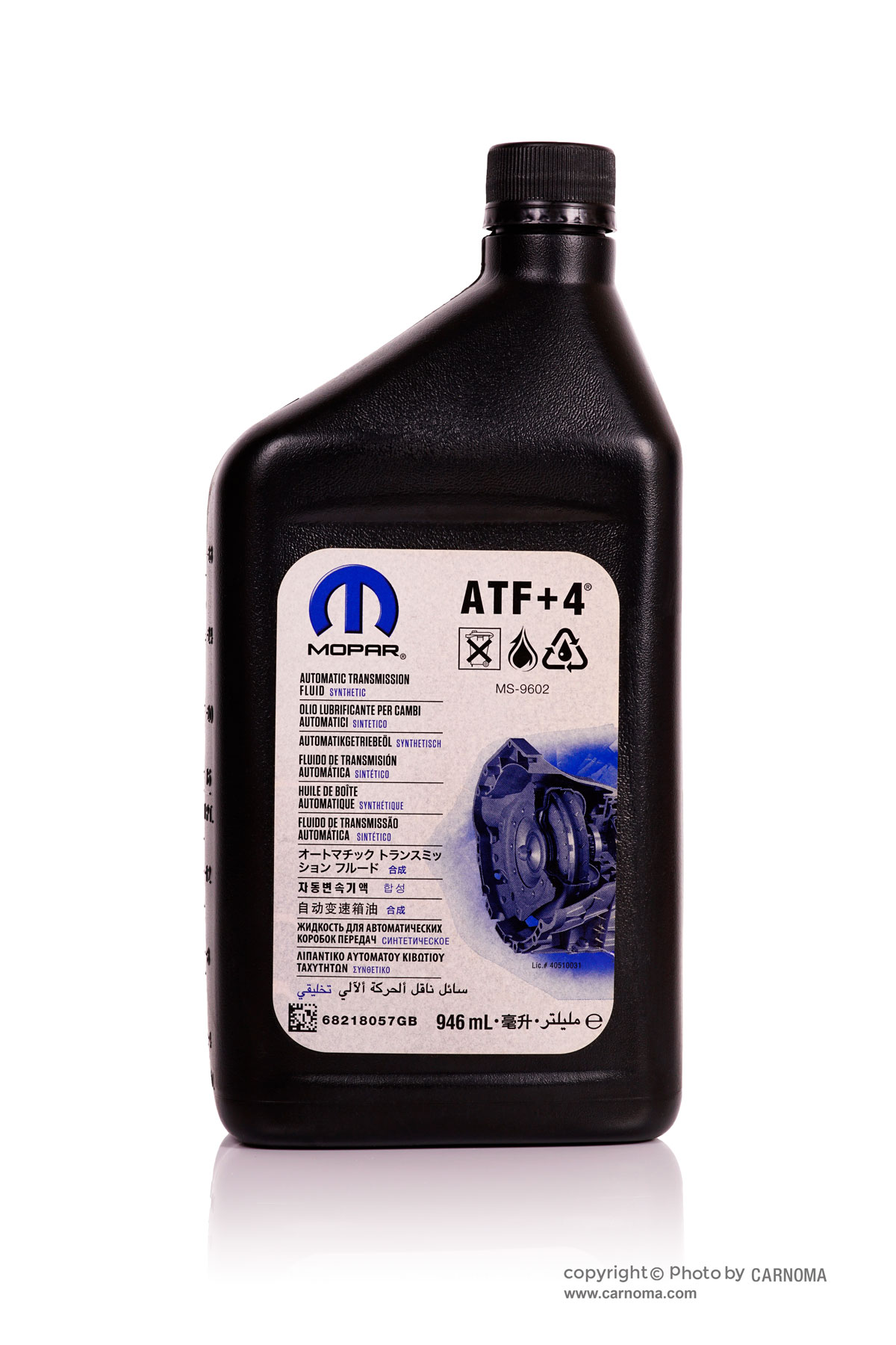 تصویر روغن گیربکس موپار ATF+4 حجم 946میلی لیتر Mopar ATF+4 Genuine Parts 946ml