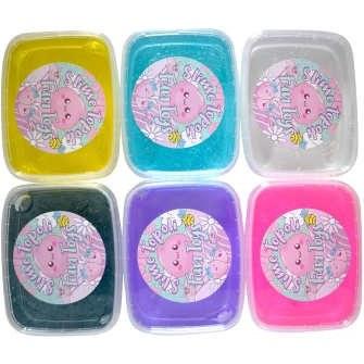 ژل اسلایم توپولی مدل Happiness ColorFul S200 بسته 6 عددی |