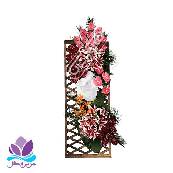تصویر تاج گل عروسی شبکه ای مدل شماره 2 جزیره گل