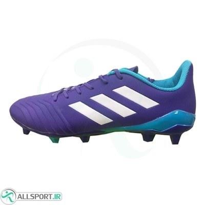کفش فوتبال آدیداس پردیتور طرح اصلی بنفش آبی Adidas Predator