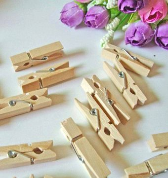 تصویر گیره چوبی طرح ساده بسته 18 عددی