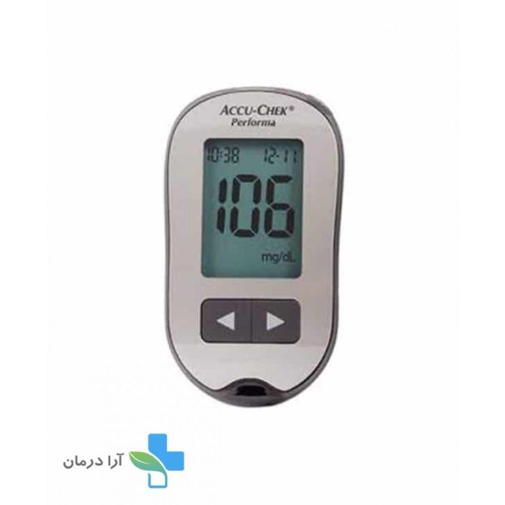 تصویر دستگاه تست قند خون اکیو چک مدل پرفورما Accu Chek Performa Blood Glucose Meter