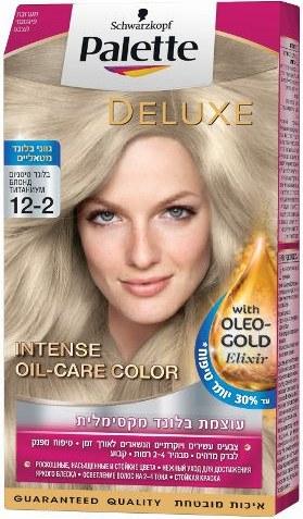کیت رنگ مو پلت سری Deluxe مدل بلوند روشن تیتانیومی شماره 2-12 |