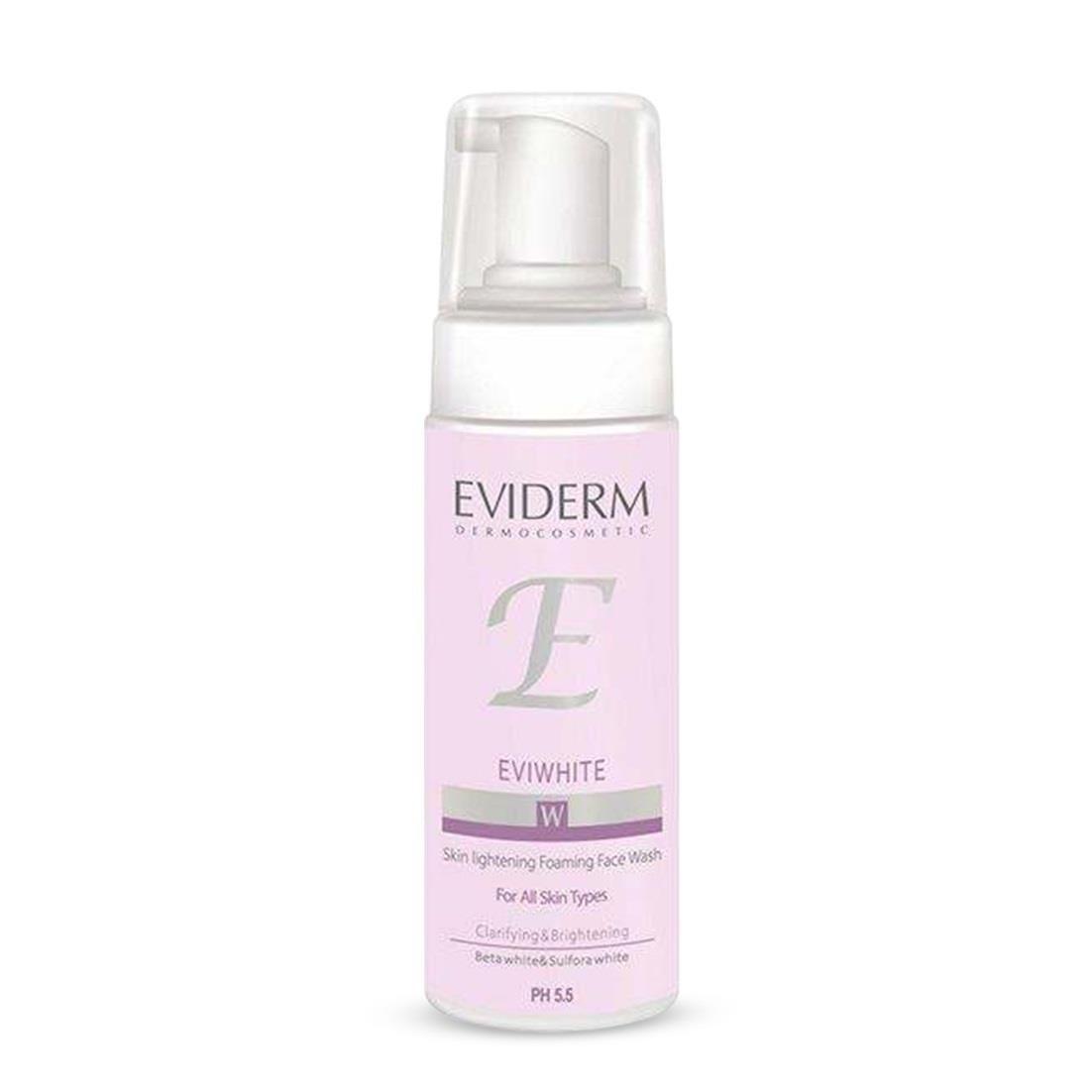 تصویر فوم شستشوی صورت روشن کننده اوی وایت اویدرم Eviderm Eviwhite Skin Lightening Foaming Face Wash