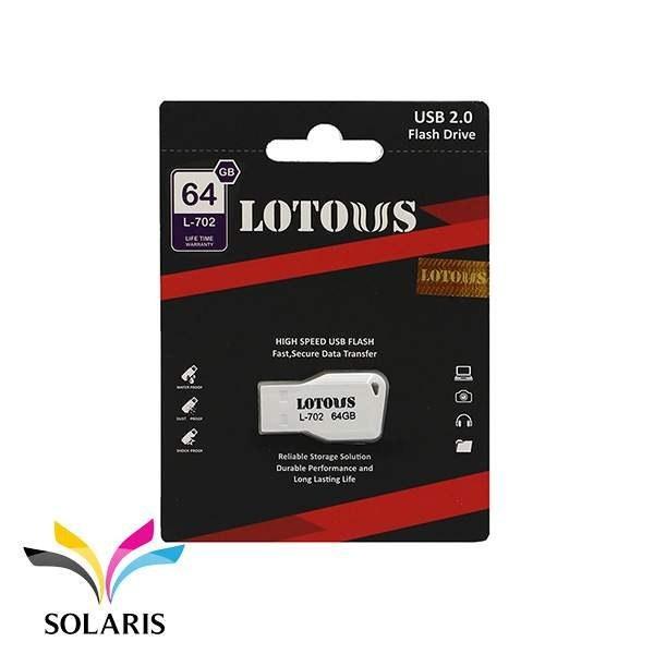 تصویر فلش مموری لوتوس مدل L702 ظرفیت 64 گیگابایت Lotous L702 Flash Memory USB 2.0 64GB