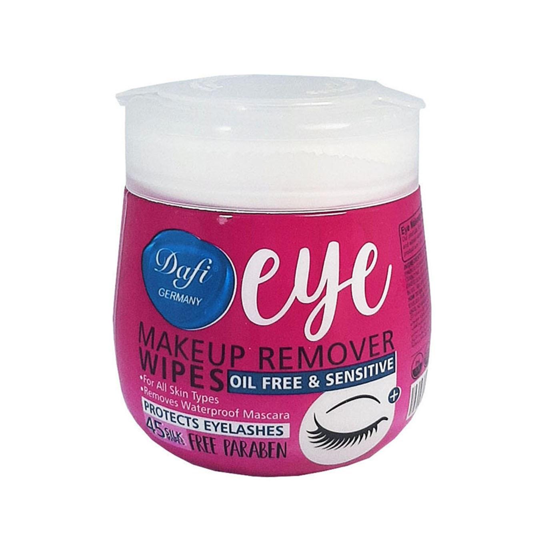تصویر دستمال مرطوب پاک کننده آرایش چشم بسته 45 عددیدافی ا Dafi Eye Sensitive Makeup Remover Wipes 45pcs Dafi Eye Sensitive Makeup Remover Wipes 45pcs