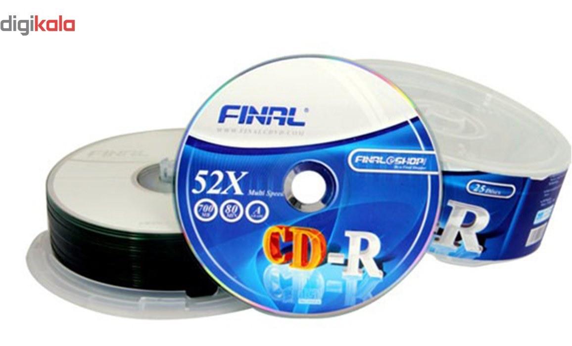 تصویر سی دی خام فینال بسته 10 عددی Final CD-R Pack of 10