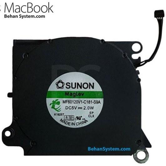"""تصویر فن پردازنده MacBook Air 13"""" A1304 مدل MB543 چهار سیم / DC5V"""